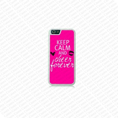 Krezy Case iPhone 6 Case, iPhone 6 case, Keep calm cheer forever on iPhone 6 Case, Cute iPhone 6 Case, Unique...