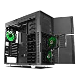 Nanoxia Deep Silence 1 Mid Tower Computer Case Fits ATX Motherboard, Large Water Cooler Ready, with 6 Fan Controllers, Air Chimney, Black