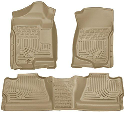 Front Door Floor Tan 4 (Husky Liners Front & 2nd Seat Floor Liners Fits 08-13 Silverado/Sierra 1500 Crew)