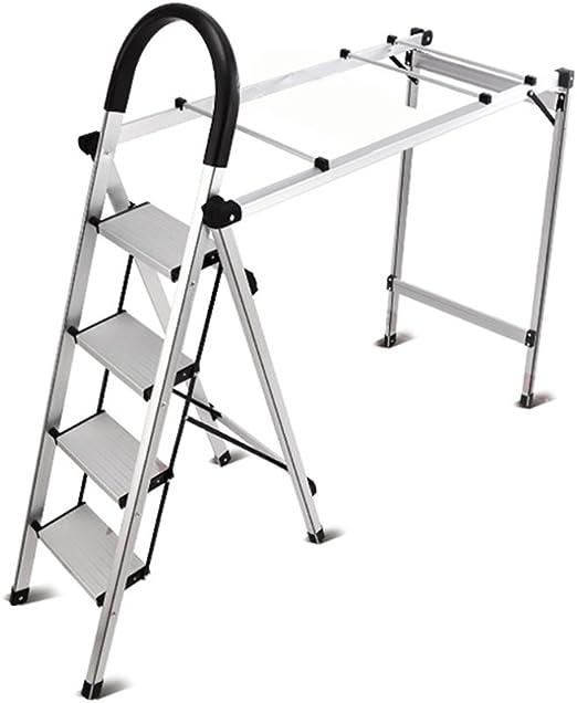 ZXQZ Taburete de Escalera Multifuncional Home Folding Ladder Racks de Secado Interior y Exterior más Gruesa de Aluminio Dual-Use Stool Ladder Silla de Escalera Plegable: Amazon.es: Hogar