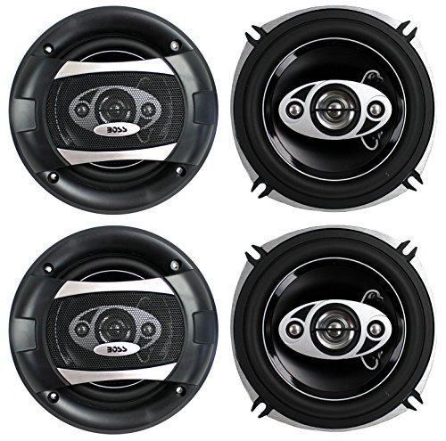 "4) BOSS P55.4C 5.25"" 600W 4-Way Car Coaxial Audio Speakers S"