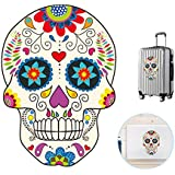 Sugar Skull Decorations Day of The Dead DIY Halloween Party Essentials for Wall Notebook Car Truck Laptop