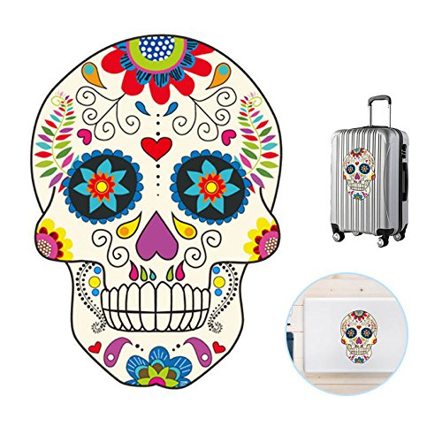 Sugar Skull Decorations Day of The Dead DIY Halloween Party Essentials for Wall Notebook Car Truck Laptop -