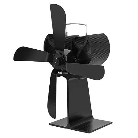 Funnyrunstore 4 cuchillas estufa de calor Desarrollado ventilador estufa de leña Ecofan Quiet Home Chimenea Ventilador,negro: Amazon.es: Bricolaje y ...