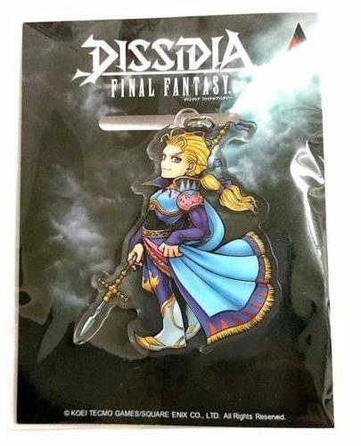 - Final Fantasy DISSIDIA Acrylic Keychain Charm Edgar 58mm Square Enix Game F/S