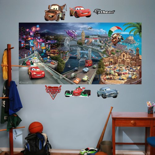 Wall Car Graphic - FATHEAD Cars 2 Mural Graphic Wall Décor