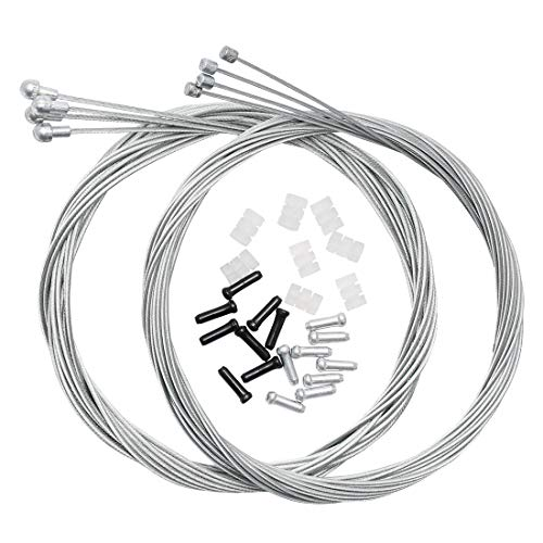 (Dymoece Bicycle Derailleur Shifter Cables,Brake Cables Set for Shimano Sram Road Mountain Bike (Only for Road Bike))