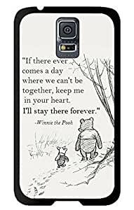 Color.Dream Winnie the Pooh Quotes Hard Plastic Back Case Cover Phone Protective Case for Samsung Galaxy S5 i9600