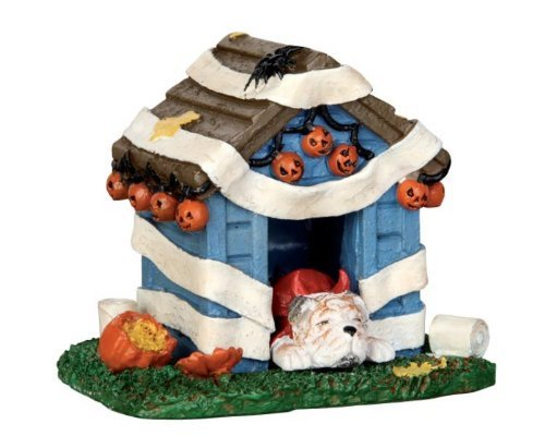 Lemax Spooky Town Tricked Out Doghouse # 44778]()