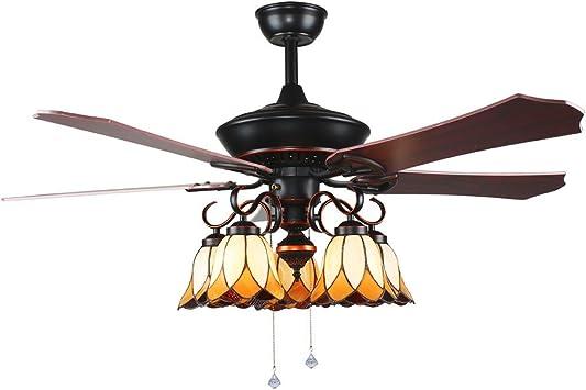 luxurefan Retro rústico ventilador de techo luz con crear único ...