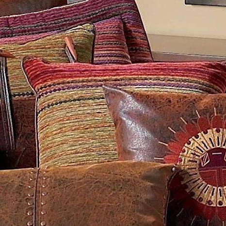 18 by 18-Inch Pink//Brown Rizzy Home T-3424 Decorative Pillows