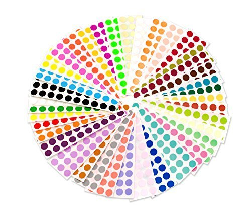 (ChromaLabel 38 Collection Color-Code Dot Labels | 38 Assorted Colors (1/4 inch))