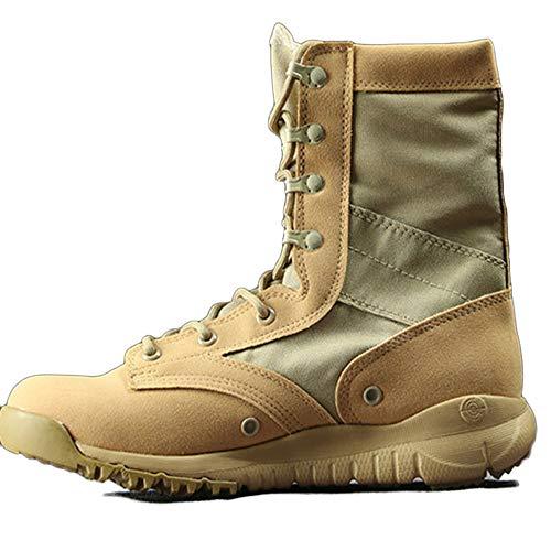 Stivali Stivali Tattici sotto Armatura da Uomo Nero Combattimento Traspirante Leggero Estivo Stivali Tattici High-Top Desert Boots Stivali Militari Sandcolor