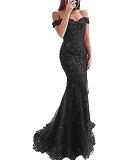 Amazon.com: SDRESS Crystals - Vestido de fiesta de sirena ...