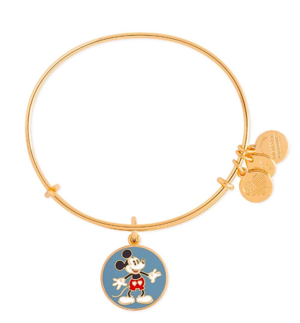 Alex and Ani Disney Parks Mickey Mouse Heart Shorts Bangle Bracelet (Gold)