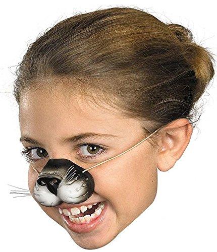 Cat Nose W Elastic Black