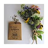 Wildflower Seed Packets, Organic Native Perennial Flower Seed Favors, Thank You Seed Favors/Set of 10 Seed Packs / (TYSilh01)