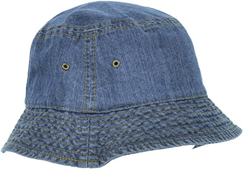 Hand By Hand Aprileo Women's Bucket Hat Floral Solid Camo Cotton Washed Summer [Denim 1](Small/Medium)