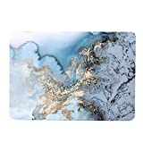 MacBook Pro 15 Inch Case 2016-2018 Release, Funut Rubber Coated Glossy Plastic Hard Case Shell Fashion Style for 2016-2018 MacBook Pro 15 A1707 A1990, Watercolour of Marble