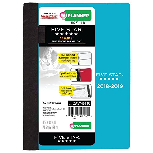 Five Star Student 2018-2019 Academic Year Weekly & Monthly Planner, Small, 5-1/2 x 8-1/2, Advance, Teal (CAW40142)