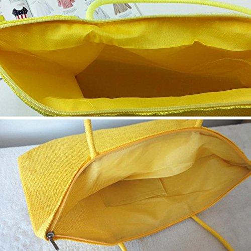 Casual Sin Yellow Straw Problemas Candy Bolso De Beach De Water Vintage Capacidad Caliente Color Mujeres Bags Black Gran Hombro Simple Toys Designer Venta LF RqaAwg
