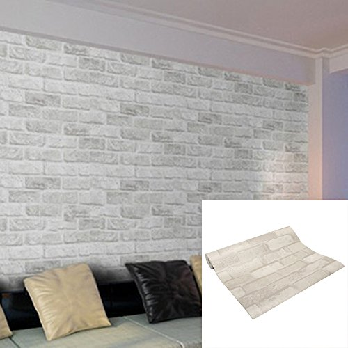 Wakrays Home Decor Large Wall Decal Sticker Embossed 3D Brick Pattern  Wallpaper In Roll