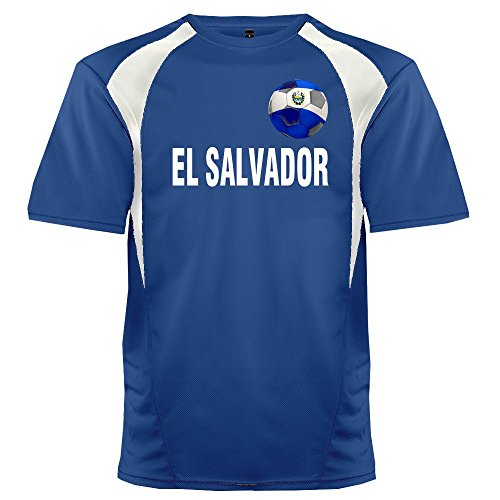 Custom El Salvador Soccer Ball 1 Jersey Adult X-Large in (Personalized Custom Jersey)