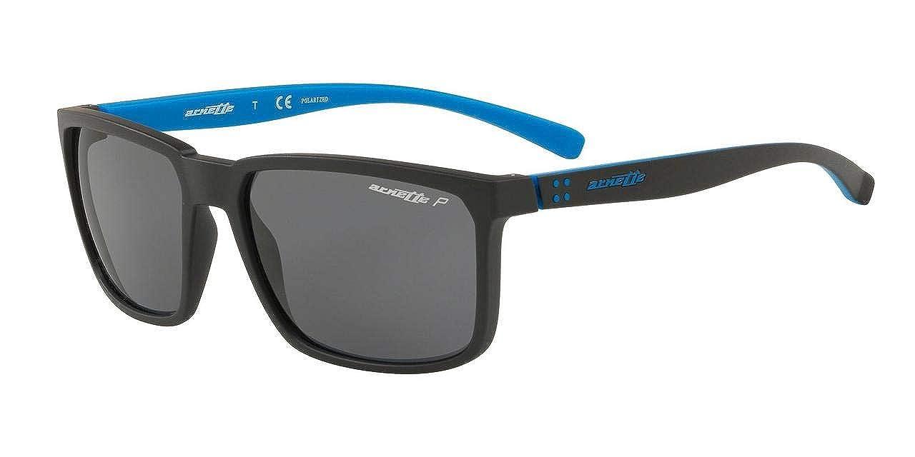 Arnette Mens Stripe Polarized Rectangular Sunglasses matte black 58 mm 0AN4251