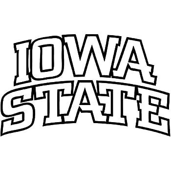 Iowa State Cyclones NCAA Decal Sticker Car Truck Window Bumper Laptop Wall