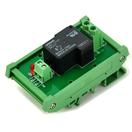 ELECTRONICS-SALON DIN Rail Mount Coil 24V Passive 1 Channel SPST-NO 30A 30Amp Power Relay Module.