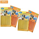 Shareculture 48 Pcs Clean Drain Sticks Cleanner Sticks Keeps Drains Pipes Clean for Kitchen Bathtub Toilet Clean Orange Lemon