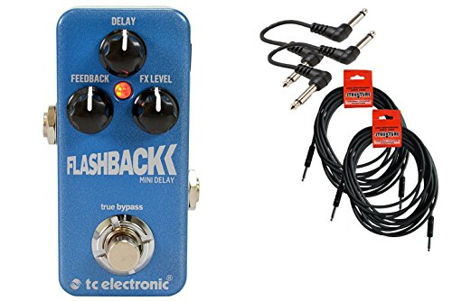 TC Electronic Flashback Delay Mini Guitar Effects Pedal Bundle 960806001