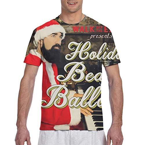 Walk Off The Earth Beard Ballads Comfortable Sports Man's Short Sleeve Printing T-Shirt M Black (Beard Man T Shirt Walk Off The Earth)