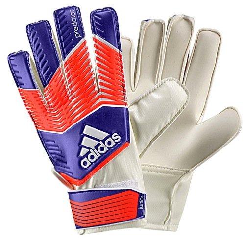 adidas Performance Predator Junior Goalie Gloves,Night Flash Purple/Solar Red/White, Size 4