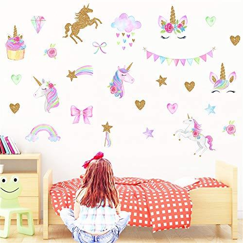 CCUT Cute Unicorn Wall Sticker Removal Unicorn Wall Decals P
