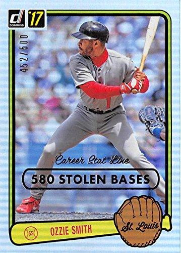 Baseball MLB 2017 Donruss Retro Variations 1983 Career Stat Line #45 Ozzie Smith NM-MT 452/500 Cardi (Ozzie Smith Career)