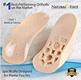 Natural Foot Orthotics Original Stabilizer Plantar Fasciitis Inserts for Medium to High Arches, Arch Support Insoles for Heel Pain, Balance, Posture, Made In USA, 11-11.5 Mens / 12-12.5 Womens