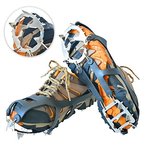 Traction Cleats Snow Grips Ice Creepers Crampons Spike [1...