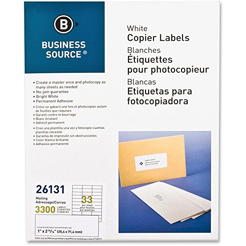 Business Source Copier Mailing Labels - Pack of (Copier Mailing Label)