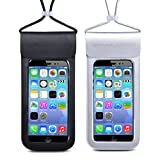 Universal Waterproof Case Snowledge IPX8 Dry Bag Pouch for iPhoneX/6/6s/6plus/7/7plus/8/8plus Samsung Galaxy S9/S9 Plus/S8/S8 Plus/Note 8 6 5 4 Google Pixel HTC LG Sony Nokia MOTO up to 6.0