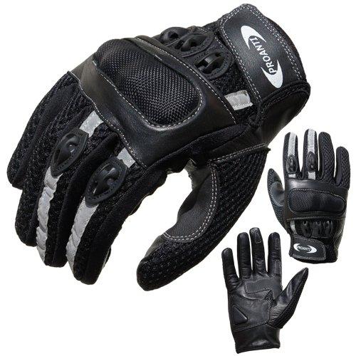 PROANTI Motorradhandschuhe Motorrad Handschuhe Sommer (Gr. XS – XXL, schwarz, kurz)