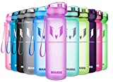 MAIGG Best Sports Water Bottle – 17oz & 32oz – Eco Friendly & BPA-Free Plastic – Fast Water Flow, Flip Top, Opens 1-Click – Reusable Leak-Proof Lid