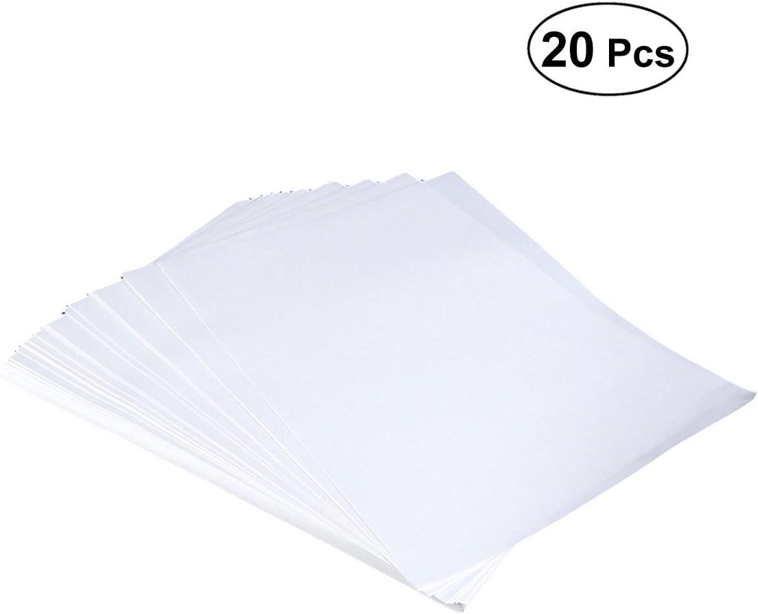 Healifty Papel de transferencia de sublimación de papel de impresión de transferencia de calor 20pcs (blanco): Amazon.es: Hogar