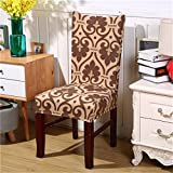 Spandex Elastic Butterfly Printing Chair Protector Slipcover Kitchen Dining Chair Cover Removable Dustproof Decorative Seat Case 6 Universal