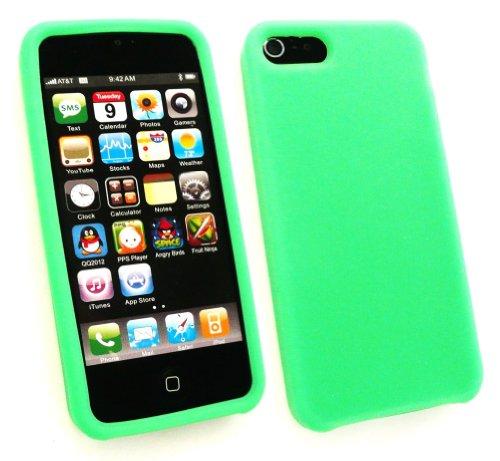 Emartbuy® Apple Iphone 5 5s Silikon Skin / Schutzhülle / Case Grün