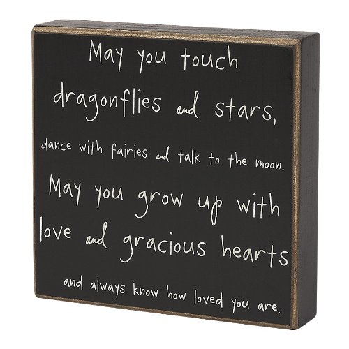Collins Dragonflies and Stars Decorative Box Sign