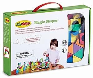 Edushape Magic Shapes Magnetic Foam Building Blocks, 54 Piece