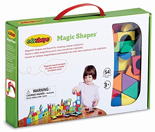 Edushape Magic Shapes Magnetic Foam Building Blocks, 54 ()