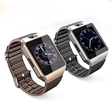Amazon.com: BROWN Original DZ09 Smart Watch Support SIM TF Card Camera Voice Record Connect Android Smartphone DZ09 Smartwatch: Cell Phones & Accessories