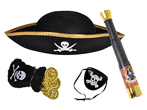 Kids Pirate Dress Up Set - Basic Necessities To Rule The Seas (Child Hat Pirate)